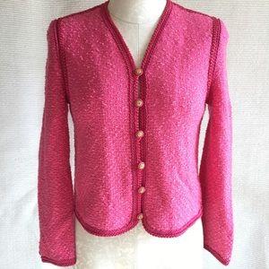 Vintage Knit Chanel-Style Cardigan Light Jacket